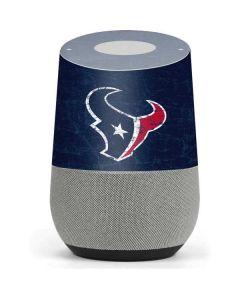 Houston Texans Distressed Google Home Skin
