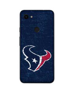 Houston Texans Distressed Google Pixel 3a Skin