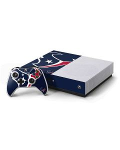 Houston Texans Large Logo Xbox One S Console and Controller Bundle Skin