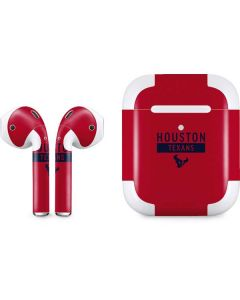 Houston Texans Red Performance Series Apple AirPods 2 Skin