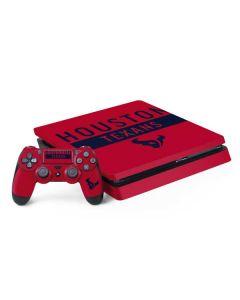 Houston Texans Red Performance Series PS4 Slim Bundle Skin