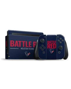 Houston Texans Team Motto Nintendo Switch Bundle Skin