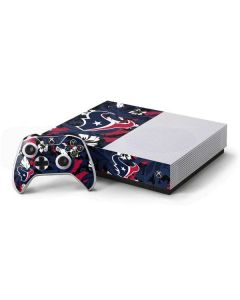 Houston Texans Tropical Print Xbox One S All-Digital Edition Bundle Skin