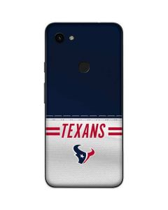 Houston Texans White Striped Google Pixel 3a Skin