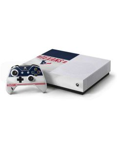 Houston Texans White Striped Xbox One S All-Digital Edition Bundle Skin