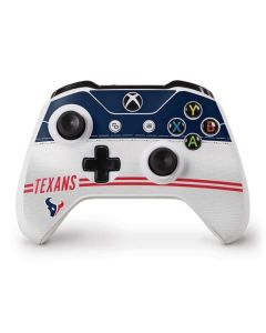 Houston Texans White Striped Xbox One S Controller Skin