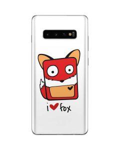 I HEART fox Galaxy S10 Plus Skin