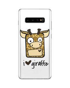 I HEART giraffe Galaxy S10 Plus Skin
