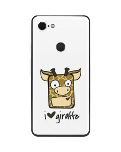 I HEART giraffe Google Pixel 3 XL Skin