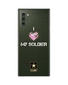I Heart My Soldier Green Galaxy Note 10 Skin