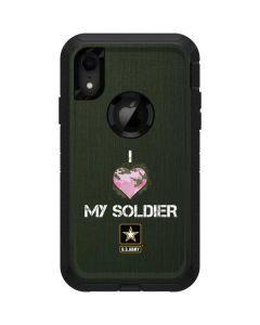 I Heart My Soldier Green Otterbox Defender iPhone Skin