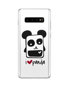 i HEART panda Galaxy S10 Plus Skin