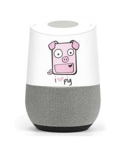 I HEART pig Google Home Skin