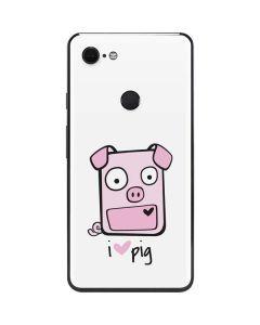 I HEART pig Google Pixel 3 XL Skin