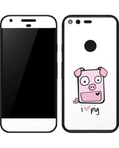 I HEART pig Google Pixel Skin