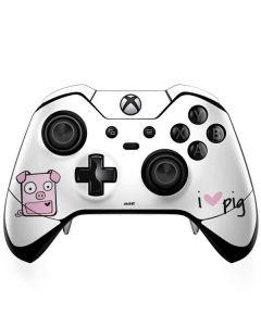 I HEART pig Xbox One Elite Controller Skin