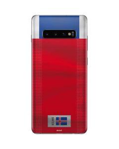 Iceland Soccer Flag Galaxy S10 Plus Skin