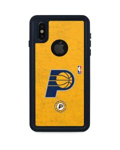 Indiana Pacers Distressed iPhone XS Waterproof Case