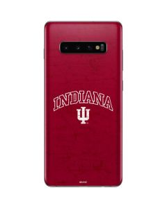 Indiana University Distressed Galaxy S10 Plus Skin