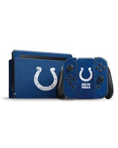 Indianapolis Colts Distressed Nintendo Switch Bundle Skin