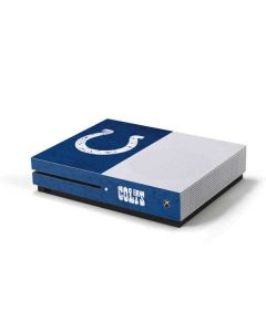Indianapolis Colts Distressed Xbox One S Console Skin