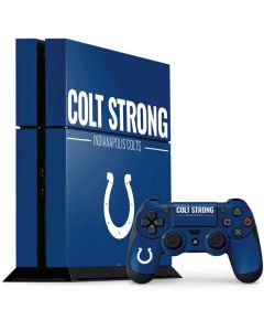 Indianapolis Colts Team Motto PS4 Console and Controller Bundle Skin