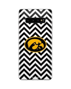 Iowa Hawkeyes Chevron Print Galaxy S10 Plus Skin
