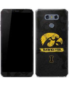 Iowa Hawkeyes Distressed Logo LG G6 Skin