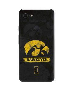 Iowa Hawkeyes Distressed Logo Google Pixel 3 XL Skin