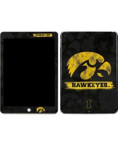 Iowa Hawkeyes Distressed Logo Apple iPad Skin