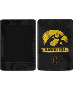 Iowa Hawkeyes Distressed Logo Amazon Kindle Skin