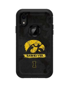 Iowa Hawkeyes Distressed Logo Otterbox Defender iPhone Skin