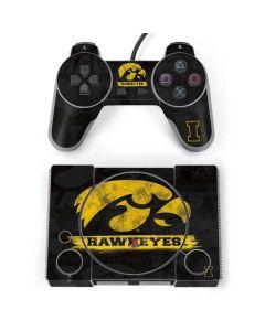 Iowa Hawkeyes Distressed Logo PlayStation Classic Bundle Skin