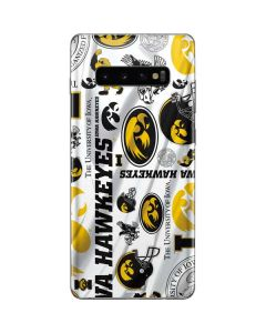 Iowa Hawkeyes Pattern Galaxy S10 Plus Skin