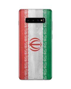 Iran Flag Distressed Galaxy S10 Plus Skin