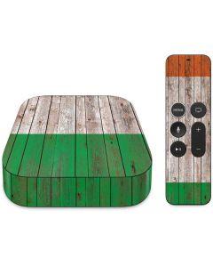 Ireland Flag Dark Wood Apple TV Skin