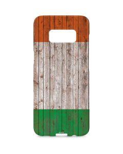 Ireland Flag Dark Wood Galaxy S8 Plus Lite Case