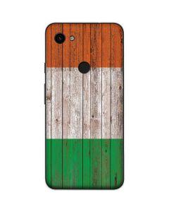 Ireland Flag Dark Wood Google Pixel 3a Skin