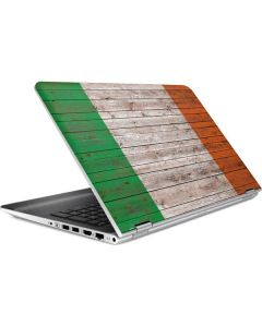 Ireland Flag Dark Wood HP Pavilion Skin