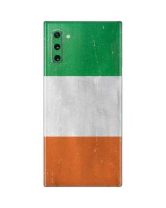 Ireland Flag Distressed Galaxy Note 10 Skin