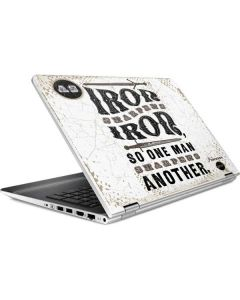 Iron Sharpens Iron HP Pavilion Skin