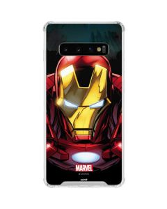 Ironman Close up Galaxy S10 Clear Case