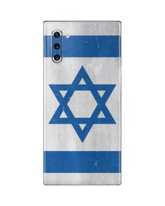 Israel Flag Distressed Galaxy Note 10 Skin