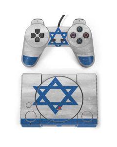 Israel Flag Distressed PlayStation Classic Bundle Skin