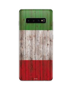 Italian Flag Dark Wood Galaxy S10 Plus Skin