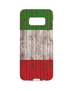 Italian Flag Dark Wood Galaxy S8 Plus Lite Case