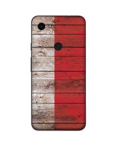 Italian Flag Dark Wood Google Pixel 3a Skin