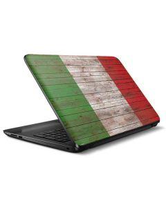 Italian Flag Dark Wood HP Notebook Skin