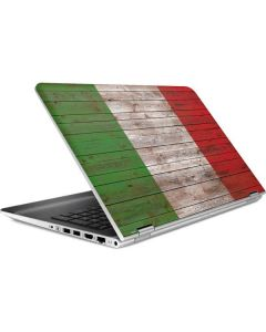 Italian Flag Dark Wood HP Pavilion Skin