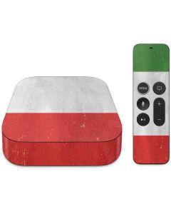 Italy Flag Distressed Apple TV Skin